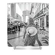 Lisbon Woman Lifestyle Shower Curtain
