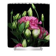 Lisianthus Flowers Shower Curtain