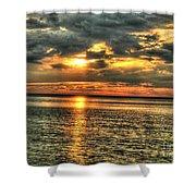 L.i.sound Sunset Shower Curtain