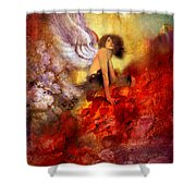 Lissa Buttons Shower Curtain