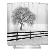 Listen The Snow Is Falling All Around Shower Curtain