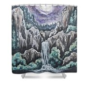 Listen To The Echoes II Shower Curtain