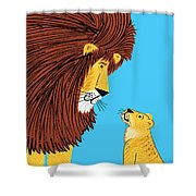 Listen To The Lion Shower Curtain