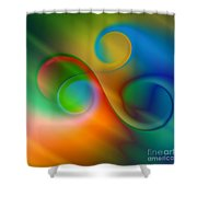 Listen To The Sound Of Colors -2- Shower Curtain by Issabild -