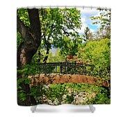 Lithia Park Bridge Shower Curtain