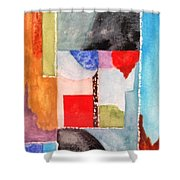 Little Abstract Shower Curtain