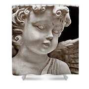 Little Angel - Sepia Shower Curtain