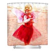 Little Angel Wings Shower Curtain