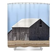 Little Barn On The Prairie  Shower Curtain