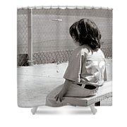 Little Baseball Brother Shower Curtain