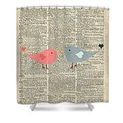 Little Birds Love Shower Curtain