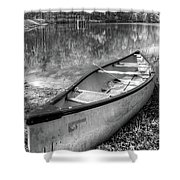 Little Bit Of Heaven Black And White Panorama Shower Curtain