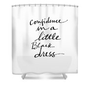 Little Black Dress - Art By Linda Woods Shower Curtain