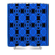 Little Blue Angels Abstract Shower Curtain