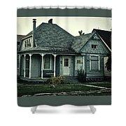 Little Blue House Shower Curtain
