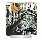 Little Boat In Venice Shower Curtain