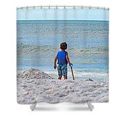 Little Boy Big Dreams Shower Curtain