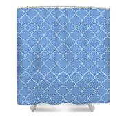 Little Boy Blue Quatrefoil Shower Curtain