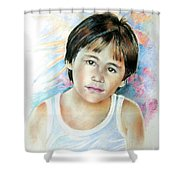 Little Boy From Tahiti Shower Curtain