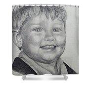 Little Boy Portrait Shower Curtain