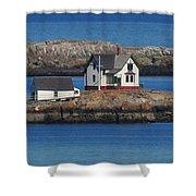 Little Brewster Island Shower Curtain