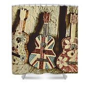 Little Britain, Big Sounds Shower Curtain