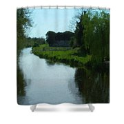 Little Brosna River Riverstown Ireland Shower Curtain