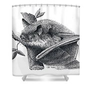 Little Brown Bat Shower Curtain