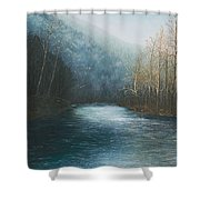 Little Buffalo River Shower Curtain by Mary Ann King