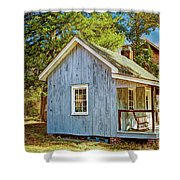 Little Cabin In The Country Pine Barrens Of New Jersey Shower Curtain