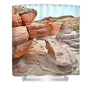 Little Castle Above Wash 3 In Valley Of Fire Shower Curtain