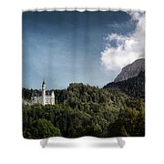 Little Castle On The Hill Shower Curtain