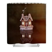 Little Ceramic House Shower Curtain