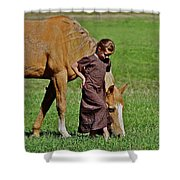 Little Country Girl Shower Curtain
