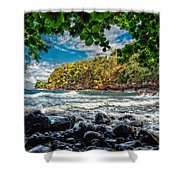 Little Cove On Hawaii' Shower Curtain