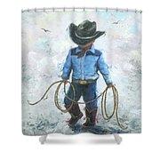 Little Cowboy Lasso Shower Curtain