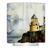 Little Cumbrae Lighthouse Shower Curtain