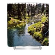 Little Deschutes Photograph Shower Curtain