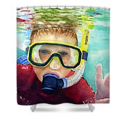 Little Diver Shower Curtain