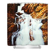 Little Firehole Falls Shower Curtain