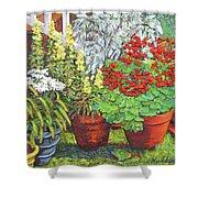 Little Flower Pot Garden Shower Curtain
