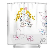 Little Flower Troll Shower Curtain