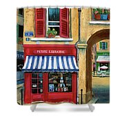 Little French Book Store Shower Curtain