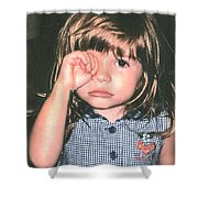 Little Girl Blue Shower Curtain by Tom Zukauskas