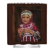 Little Girl In India Shower Curtain