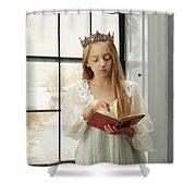 Little Girl Reading Book Shower Curtain