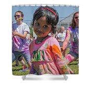 Little Girl Smiles Shower Curtain