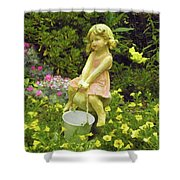 Little Girl With Pail Shower Curtain