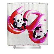 Little Glass Pandas 44 Shower Curtain