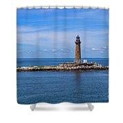 Little Gull Lighthouse Shower Curtain